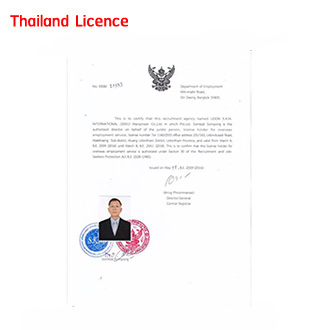 thailand licence